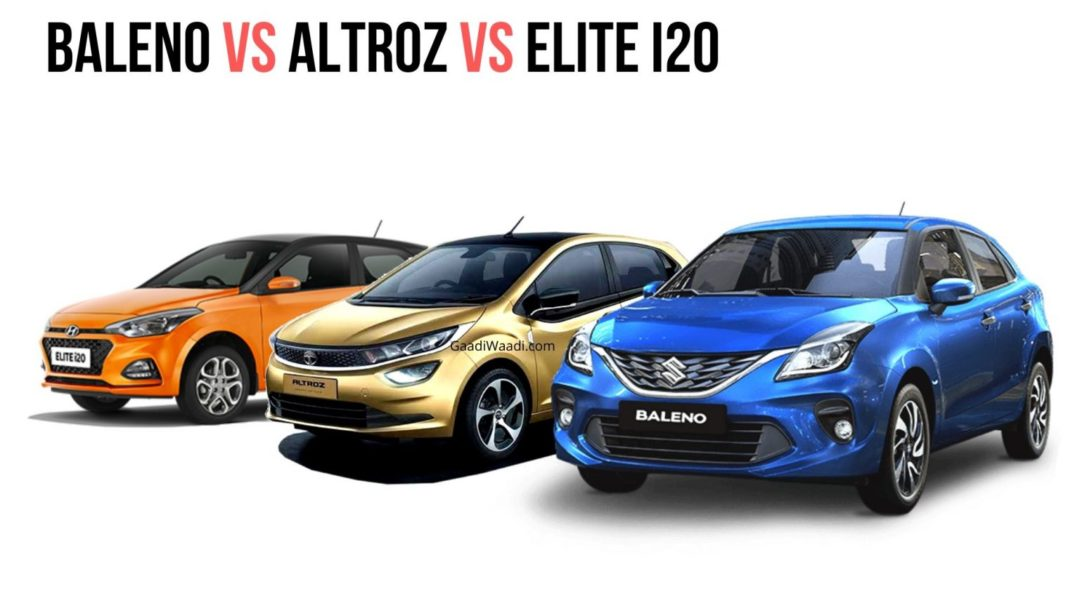 Baleno vs Altroz vs Elite i20