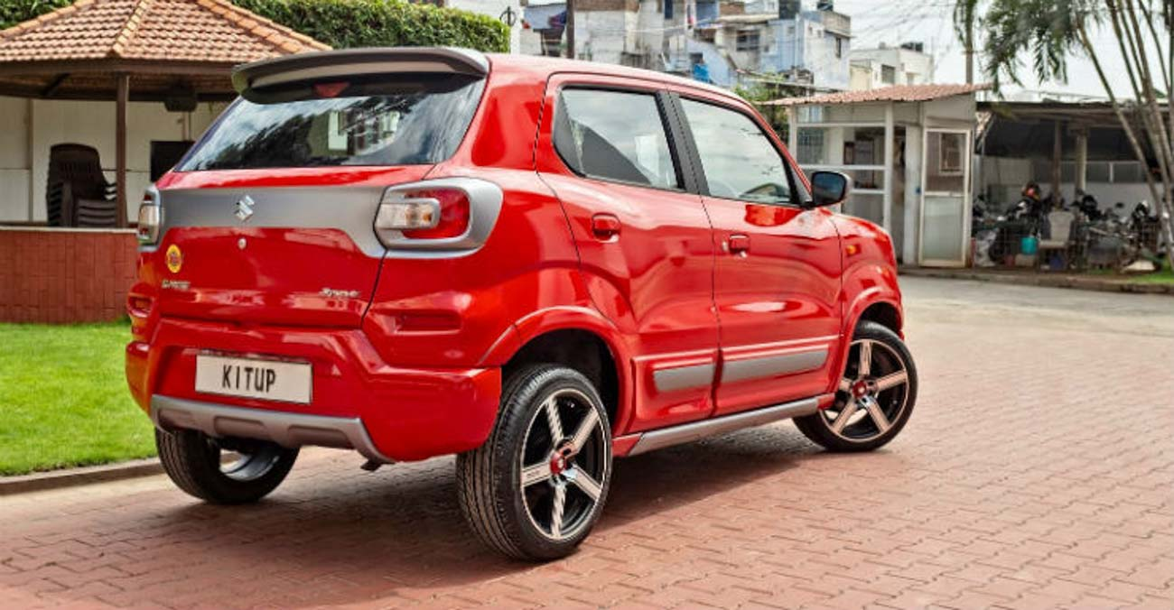 Check Out This Modified Maruti S-Presso With Alloy Rims And New Paint Scheme