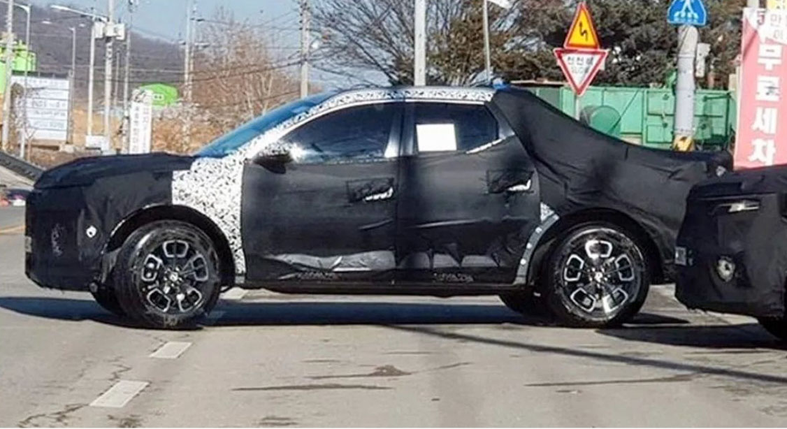 2021 Hyundai Santa Cruz Spied Testing In South Korea