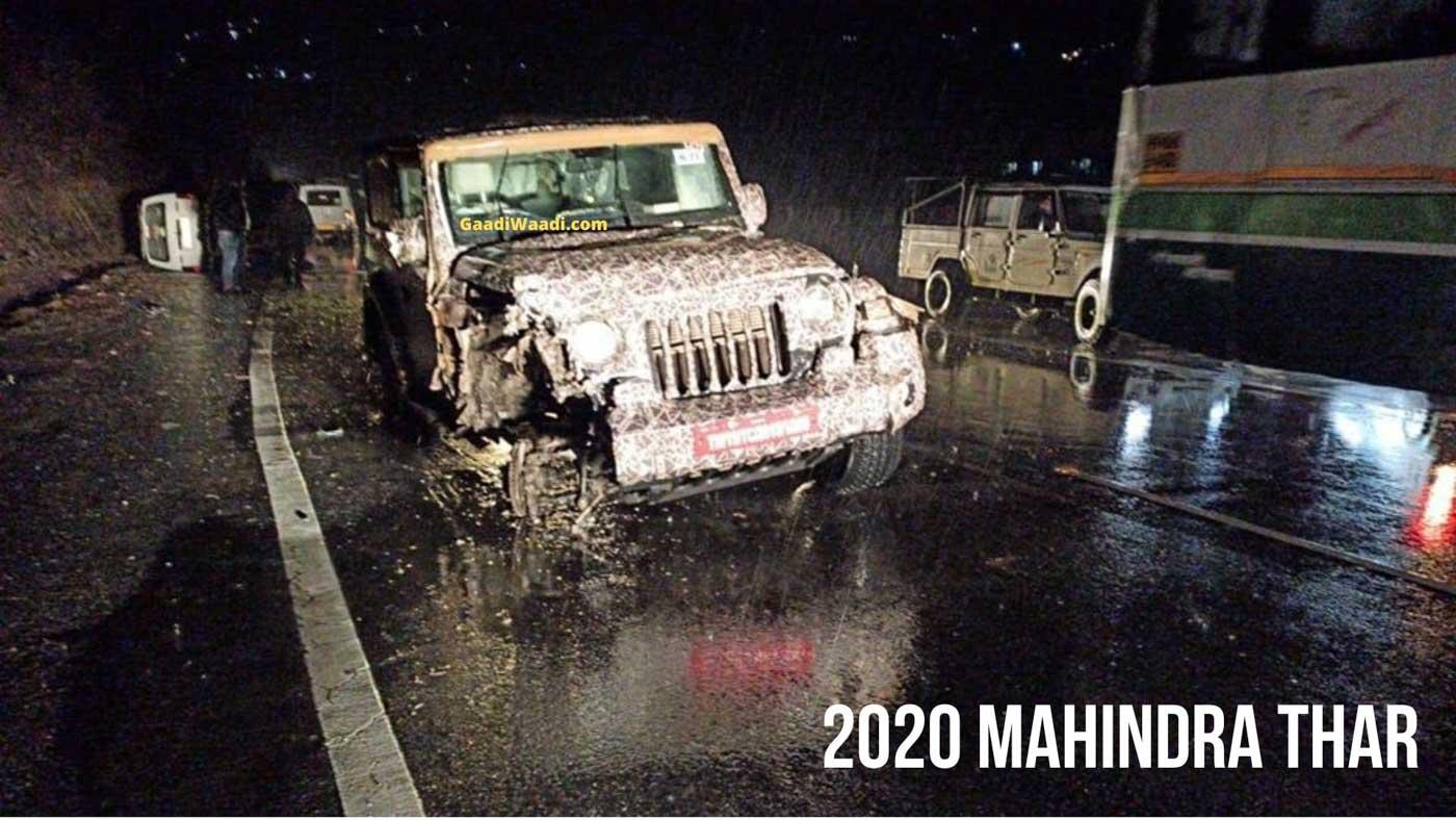 2020 Mahindra Thar Test Mule Crashes Into Maruti Omni