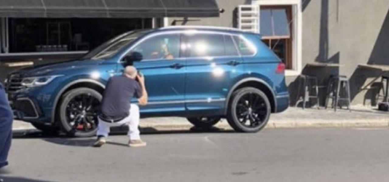 2021 volkswagen tiguan facelift spied during tvc shoot