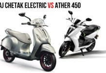 Ather 450 VS Bajaj Chetak Electric - Specs Comparison