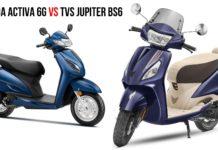 Honda activa 6g vs TVS Jupiter BS6