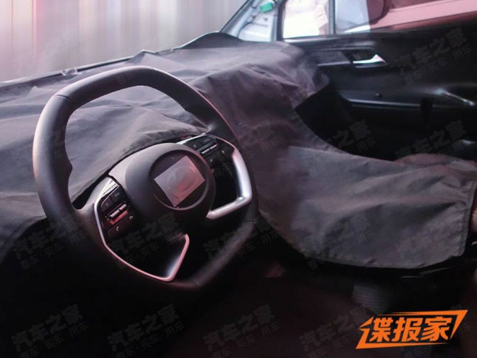 Hyundai 7-Seater MPV Spied Steering Wheel