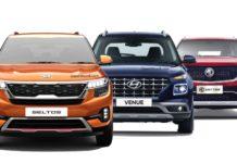 Kia Seltos Hyundai Venue MG Hector Bookings