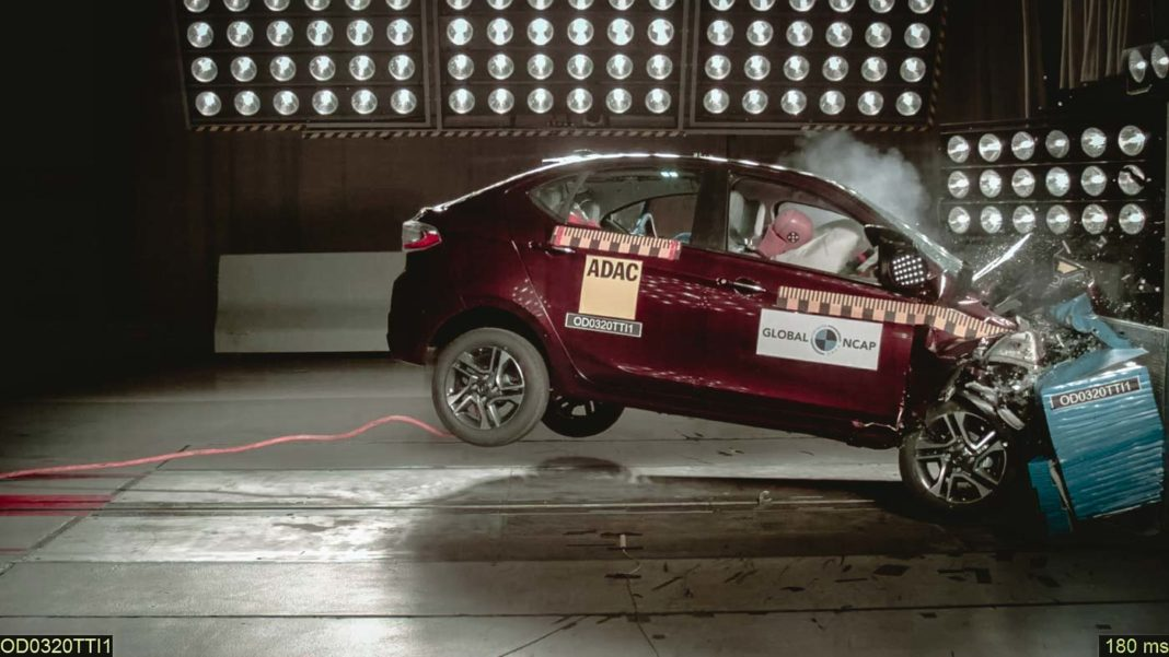 Tata Tiago-Tigor ncap crash Test