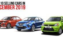 Top 10 Sellings Cars December 2019