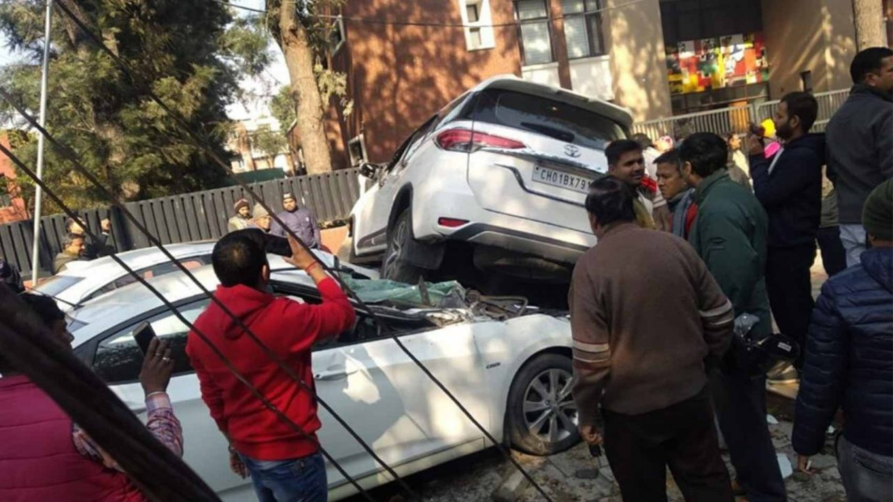 fortuner accident chandigarh-1