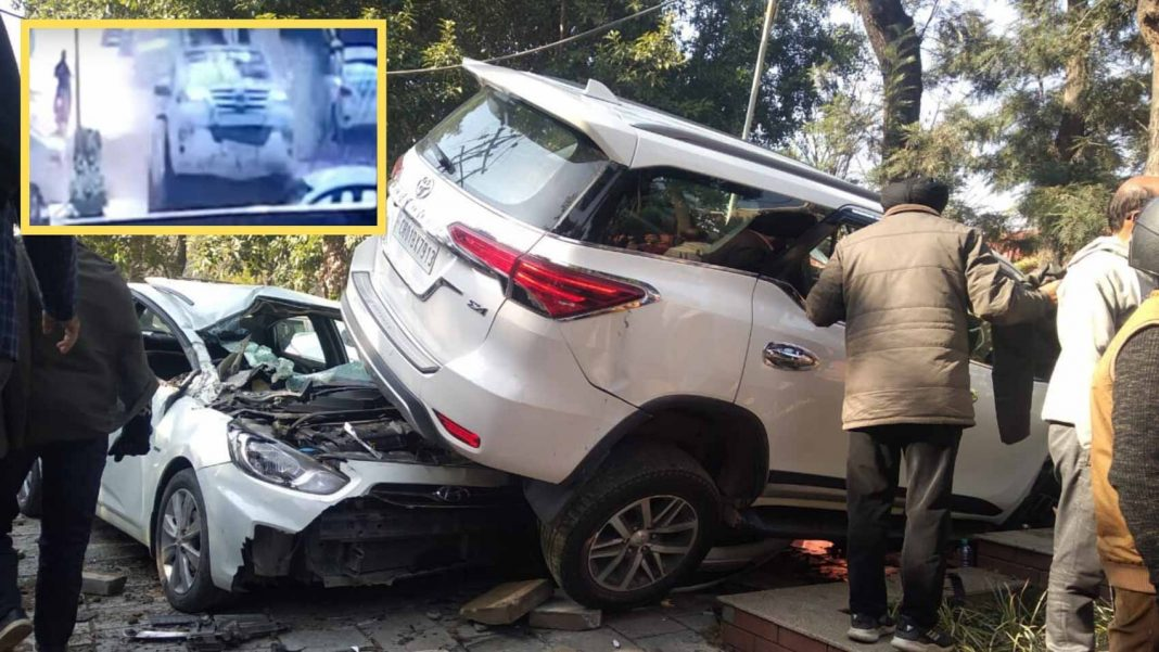 fortuner accident chandigarh-2