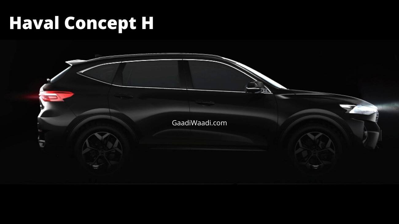 GWM Releases First Teaser Of India-Spec Haval Concept H SUV - Details - GaadiWaadi.com thumbnail