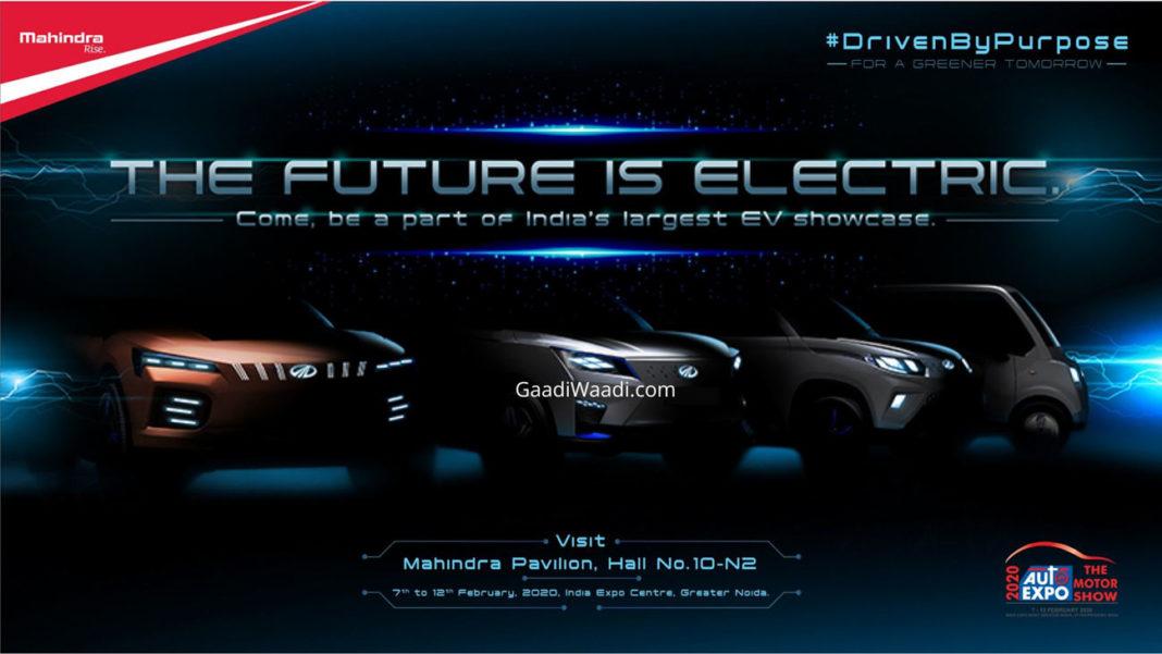 mahindra electric cars 2020 auto expo-1