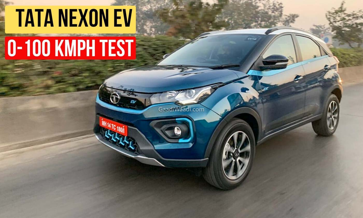 Tata Nexon Electric SUV 0-100 Kmph Acceleration Test – Video