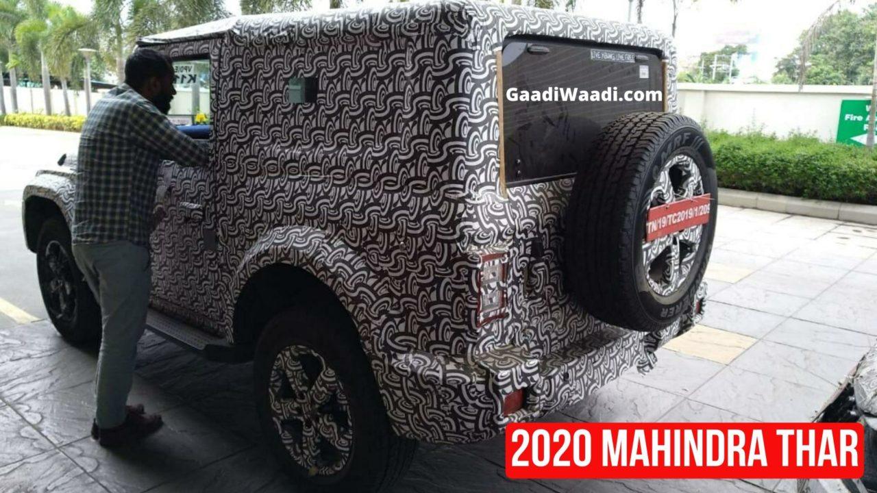 2020 mahindra thar spied2