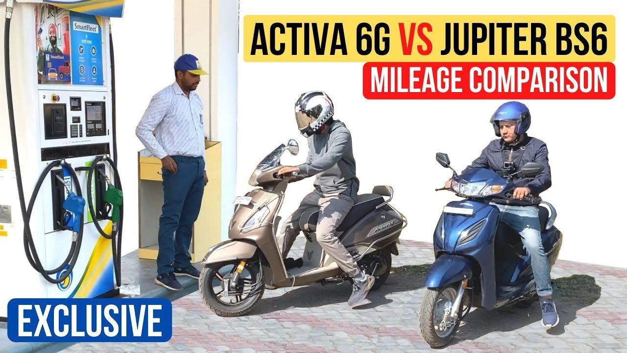 activa 6g vs jupiter mileage