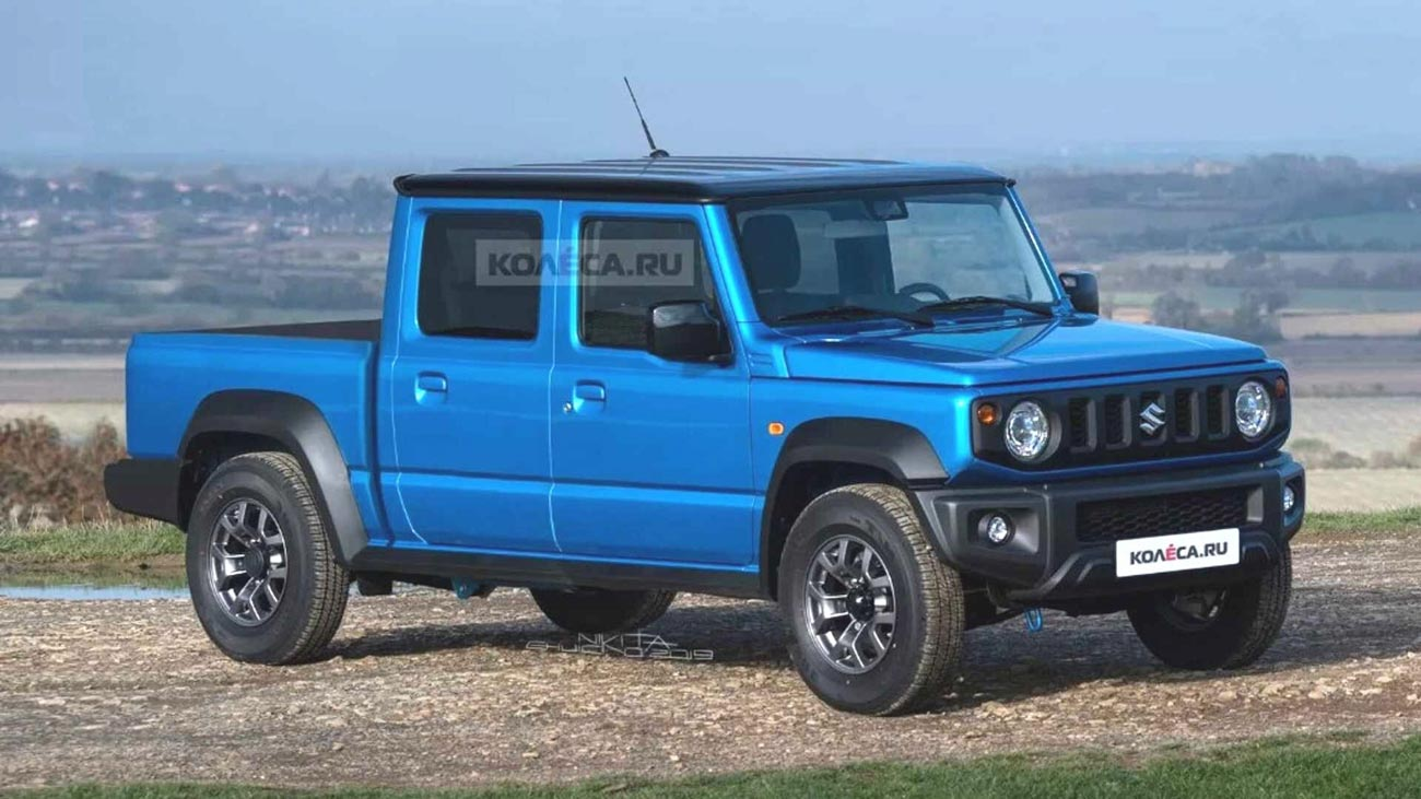 India-Bound Suzuki Jimny Rendered As A Pickup Truck
