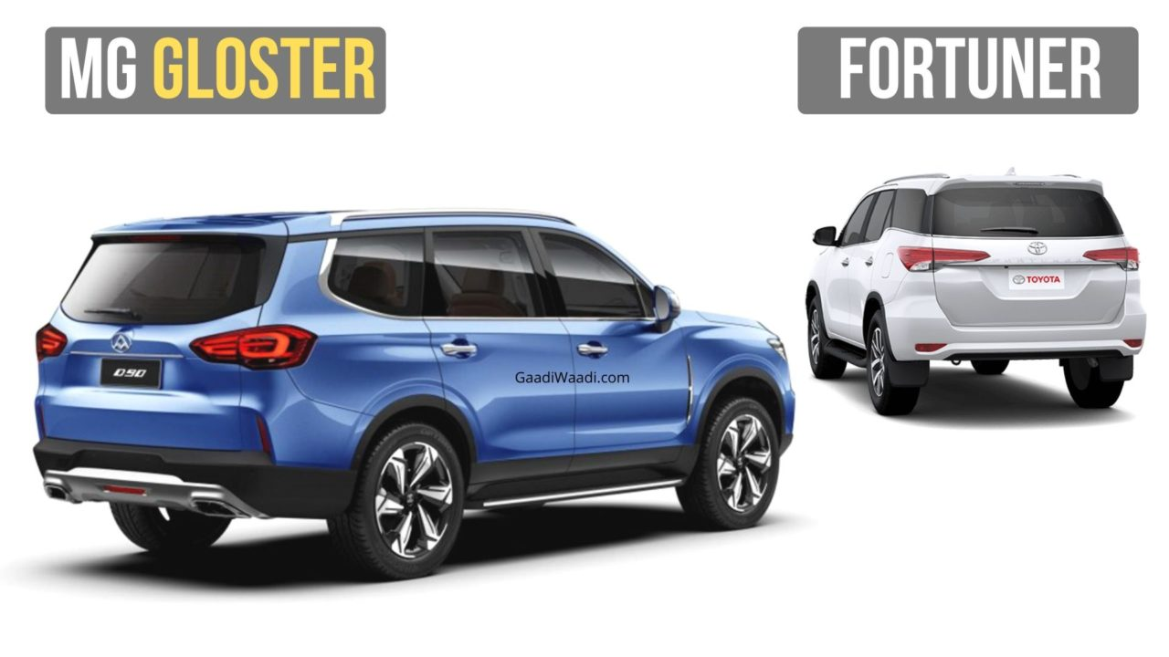 mg gloster vs toyota fortuner