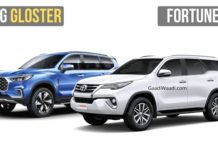 mg gloster vs toyota fortuner 2