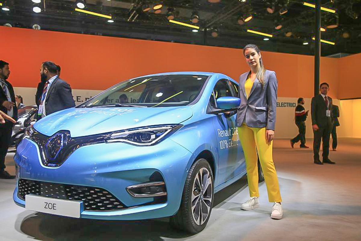 Renault Zoe Electric Car Showcased At 2020 Auto Expo