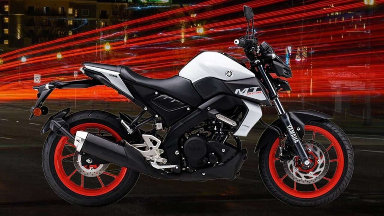 yamaha mt15 bs6 Ice-fluo vermillion colour-1