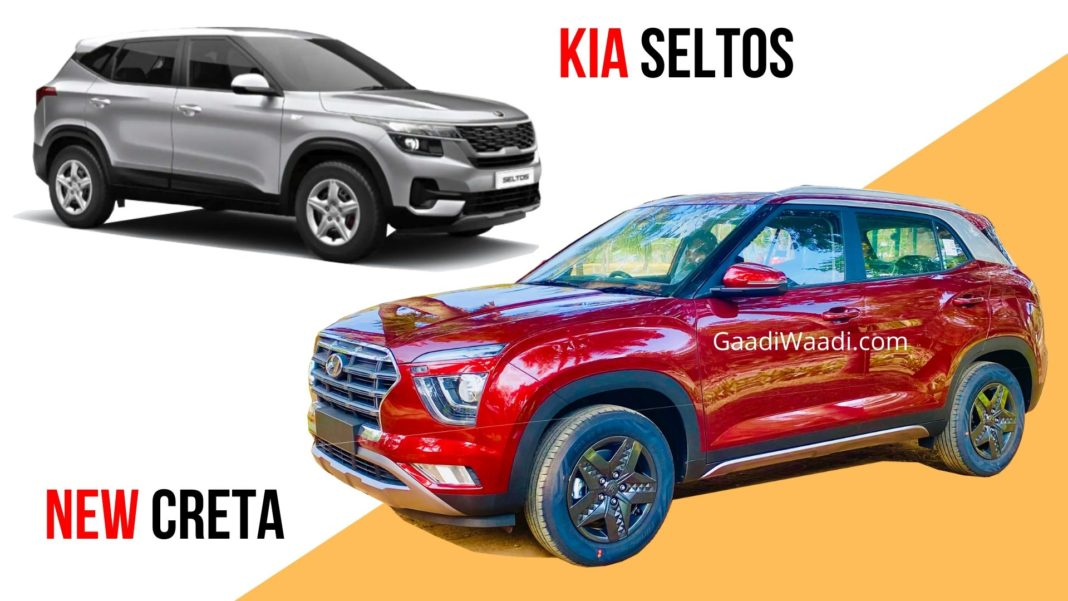2020 Hyundai Creta S Vs Kia Seltos HTK Plus - Mid Variants Comparison