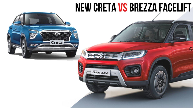 Maruti Vitara Brezza ZXi+ Vs Hyundai Creta Petrol EX - Specs Comparison - GaadiWaadi.com thumbnail