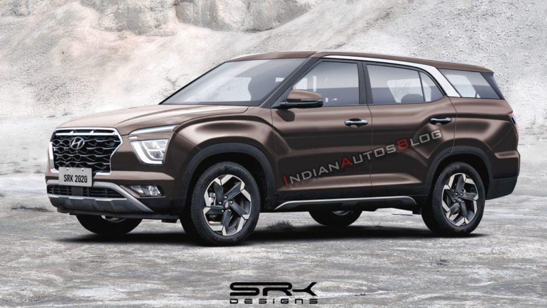 Hyundai Creta 7 Seater Rendering