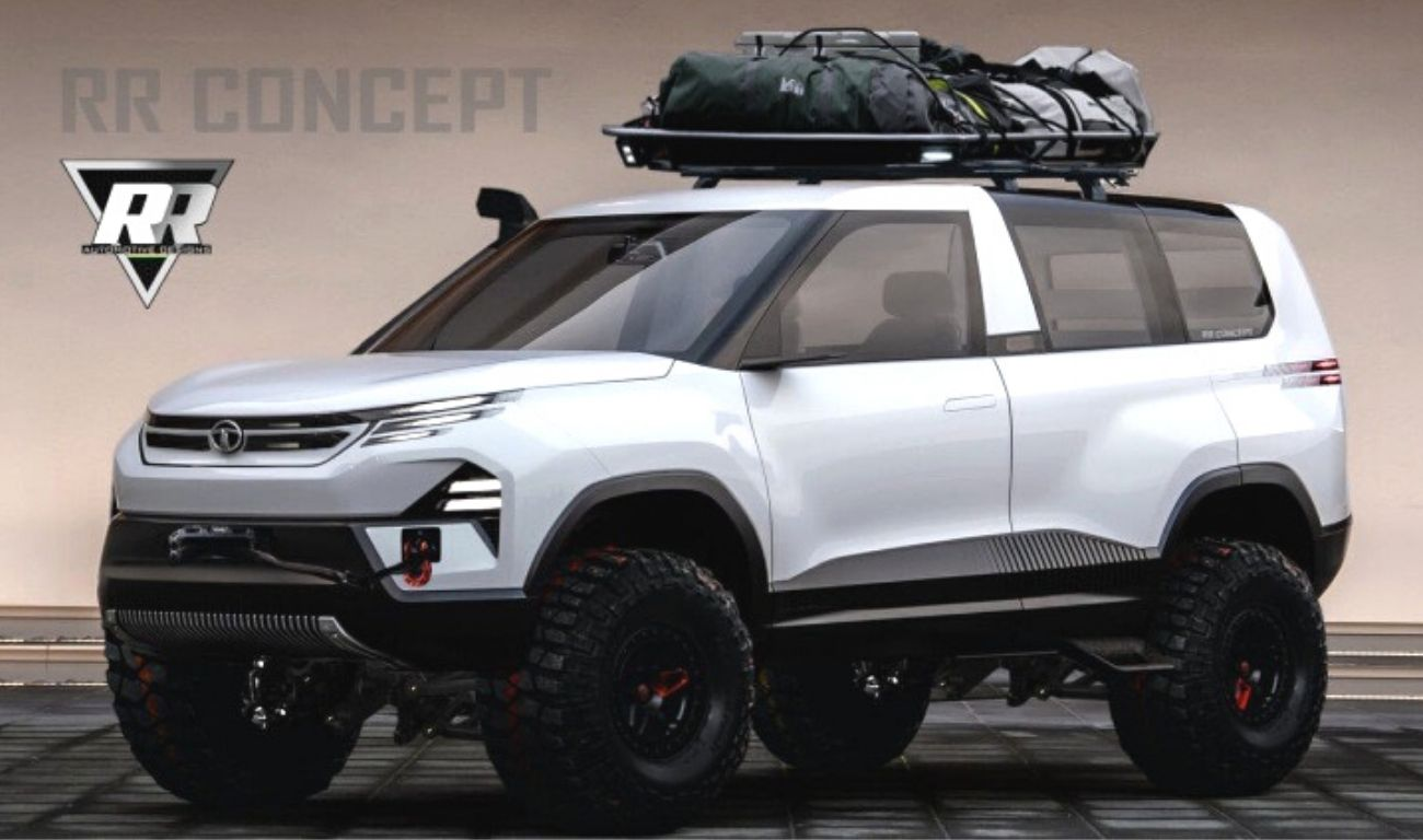 Next-Gen Tata Sierra SUV Rendered As A Hardcore Off-Roader