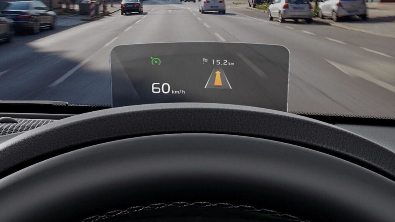 seltos heads up display