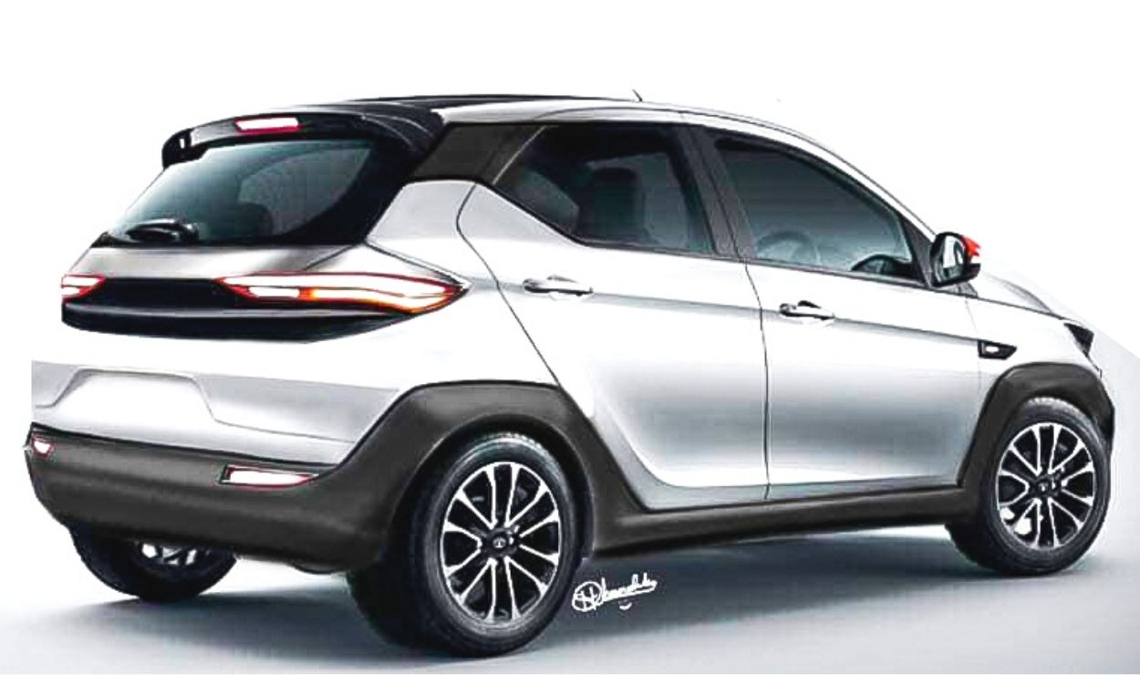 Next-Gen (2021) Tata Tiago Rendered With Rear Inspired By Altroz