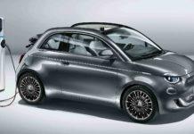 2020 Fiat 500e Side