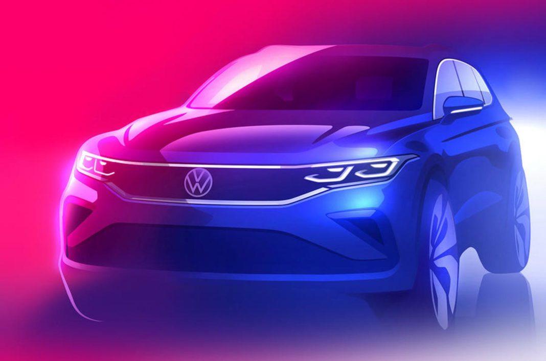 Volkswagen Tiguan facelift teaser out