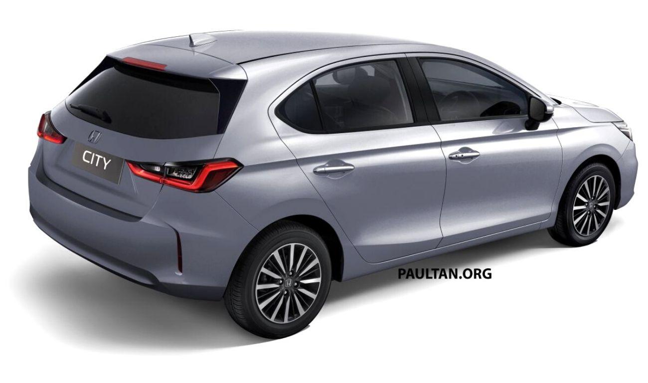 2021 honda city hatchback rendered based on patent images