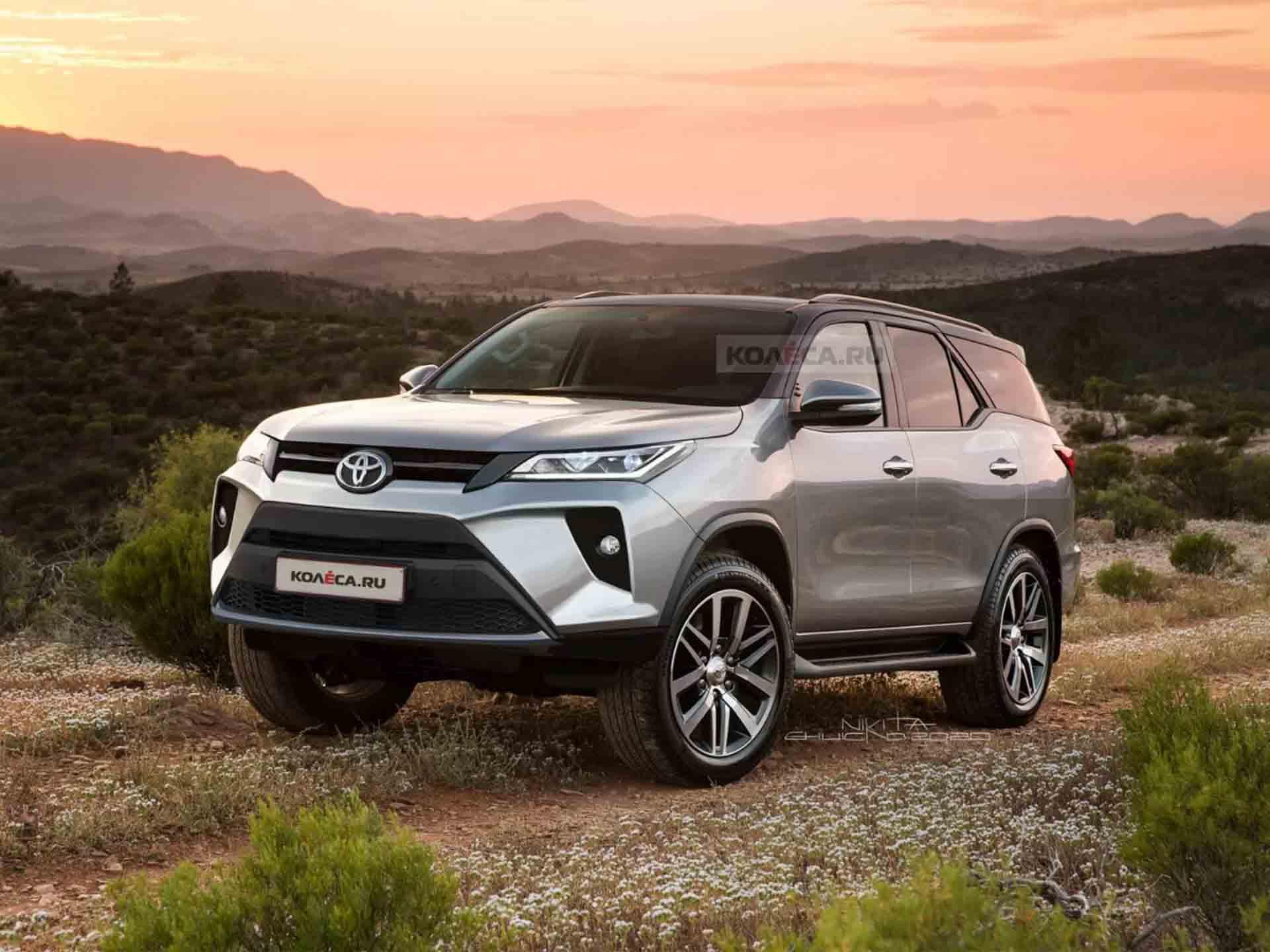 2021 Toyota Fortuner Facelift's Front, Rear Designs Rendered