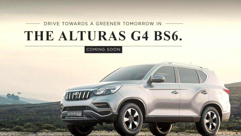 BS6 Mahindra Alturas G4 Teased Ahead Of Launch