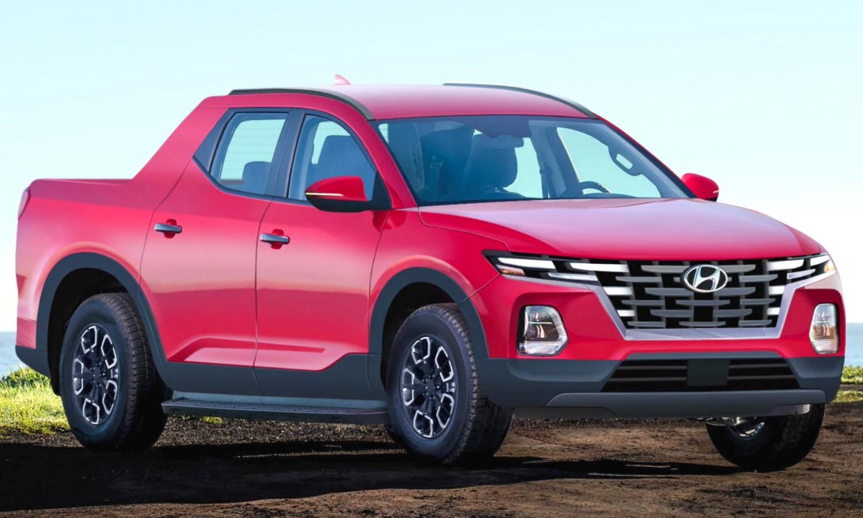 Production-Spec Hyundai Santa Cruz Pickup Truck Rendered
