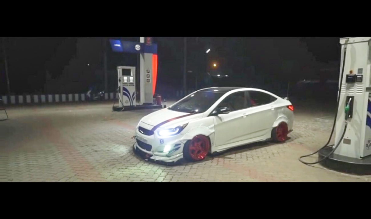 Modified Hyundai Verna with Air Suspension-2
