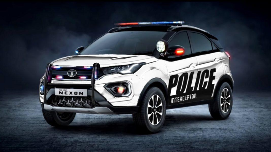Tata Nexon Digitally Police Inteceptor1