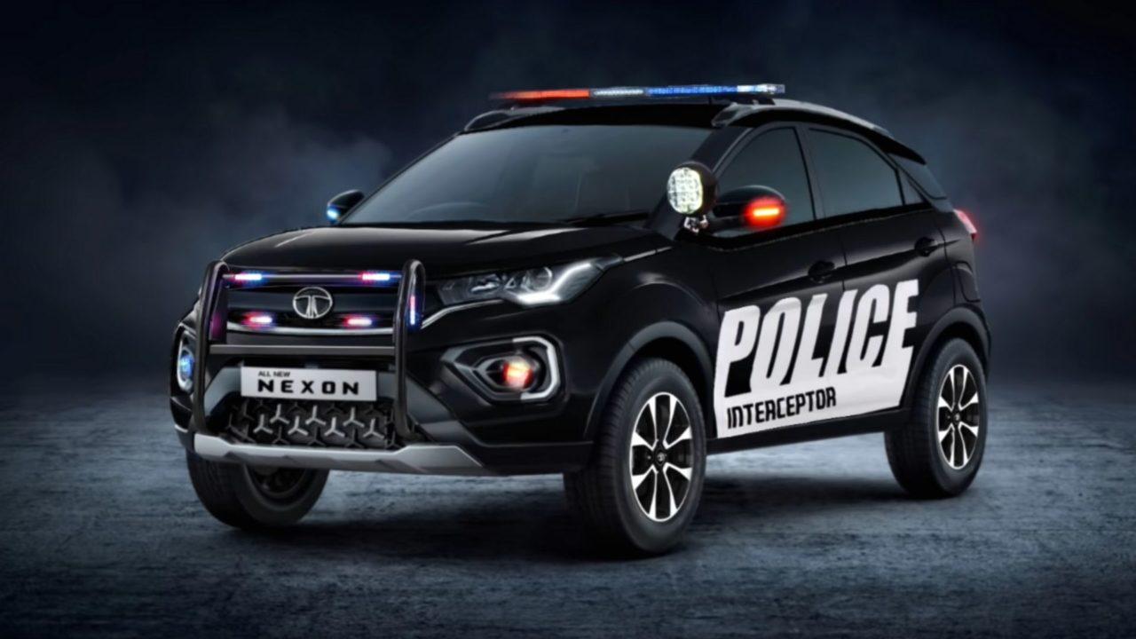 Tata Nexon Digitally Police Inteceptor2