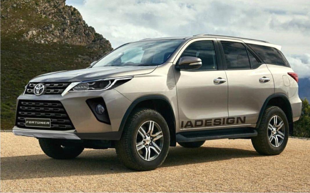 Toyota Fortuner Facelift rendering