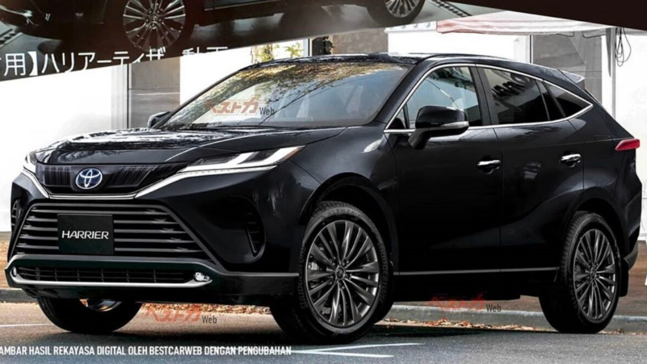 2021 toyota harrier suv rendered based on leaked images