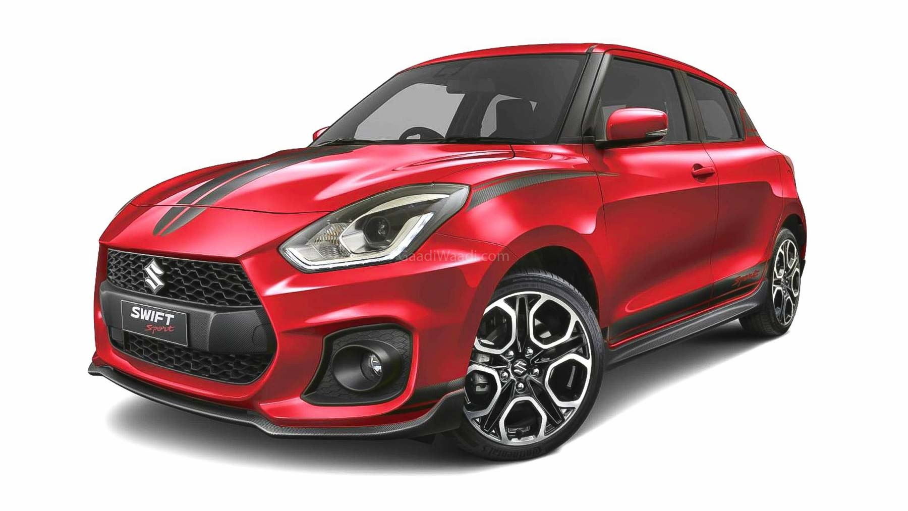 140 PS Swift Sport Spotted Undisguised In India Fueling Launch Rumours