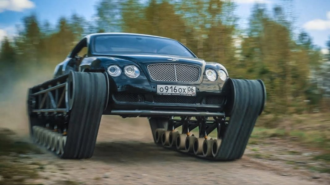 Bentley Continental GT With Tank Tracks