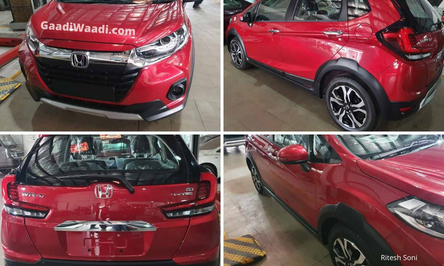 BS6 Honda WR-V Facelift Spotted At Dealership Ahead Of Launch