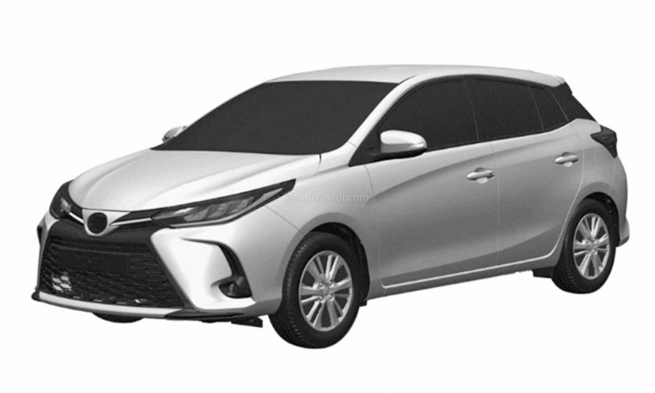 Toyota Yaris Hatchback Facelift Design Leaked Through Patent Pics