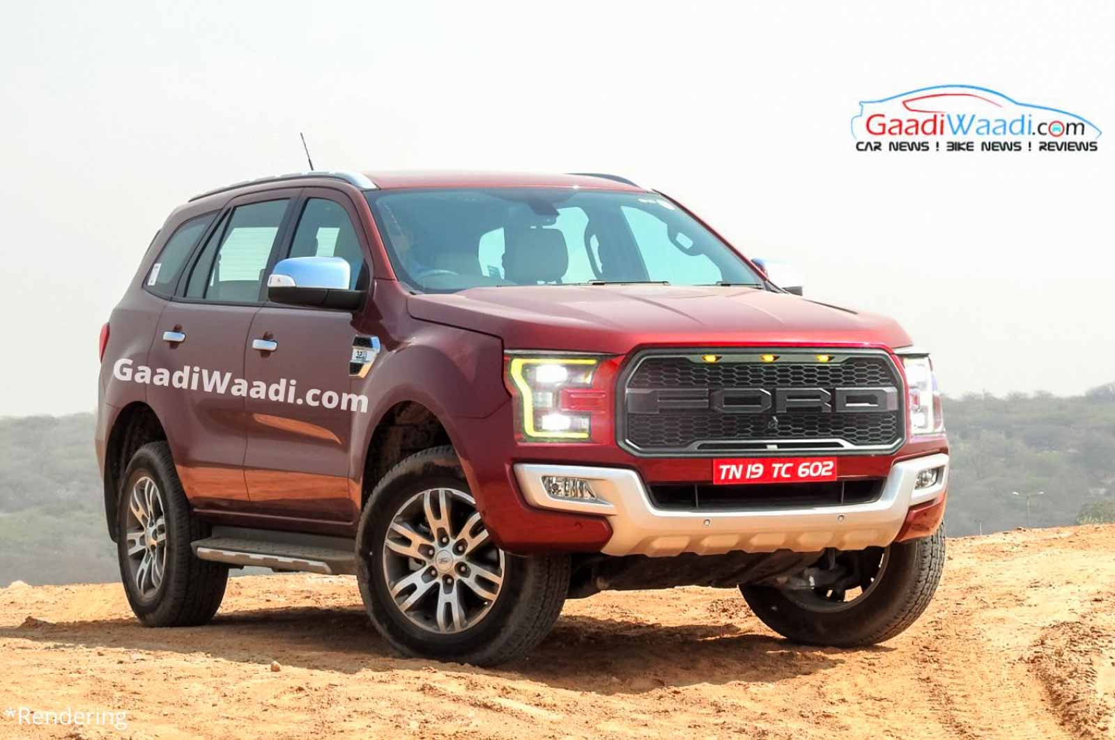India-Bound 2021 Ford Endeavour Rendered Inspired By F-150 Raptor