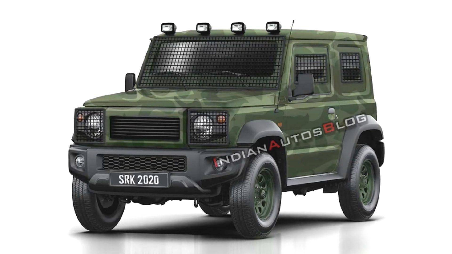 2021 Maruti Gypsy Army Model Visualized In New Rendering