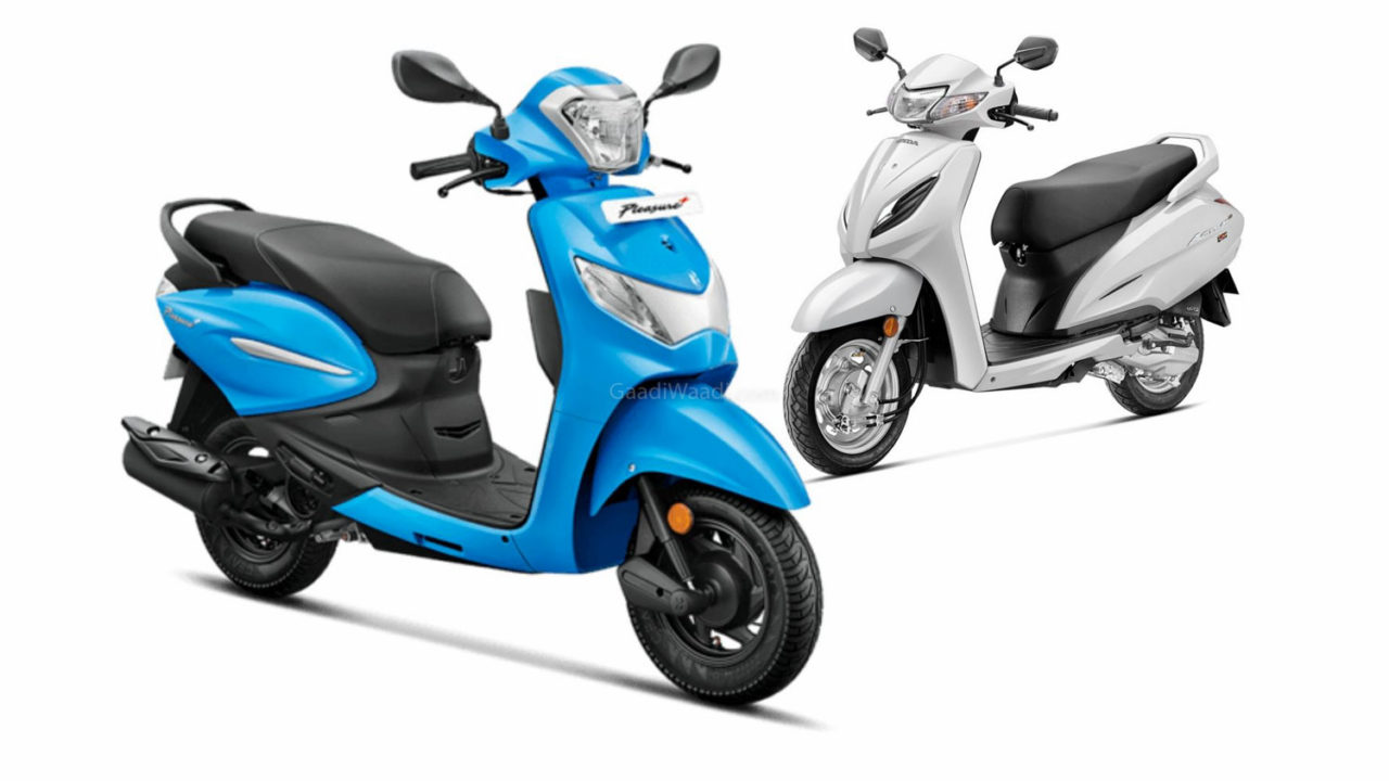 BS6 Hero Pleasure Plus Vs Honda Activa 6G-1-2
