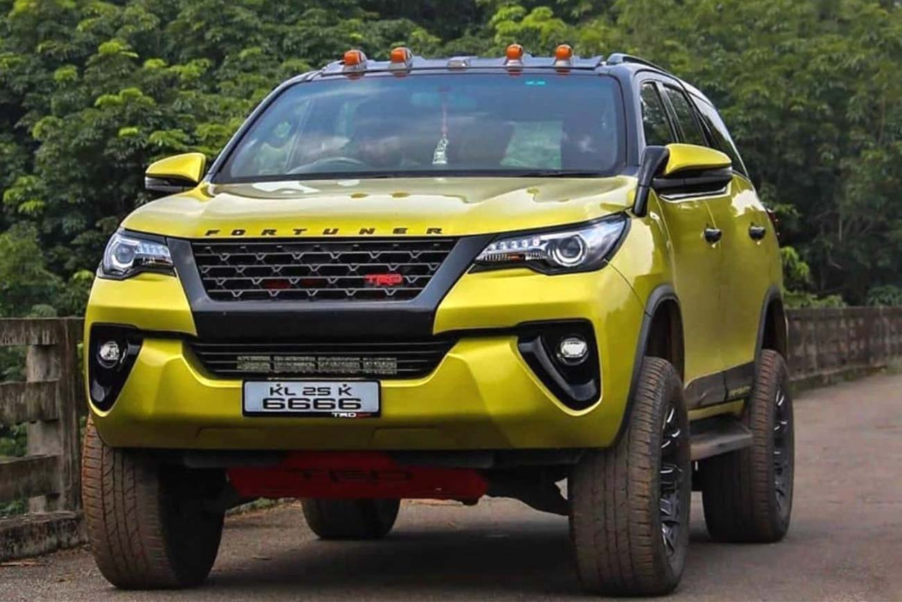 Custom Toyota Fortuner With 4-Inch Lift & Yellow Paint Is Mesmerizing