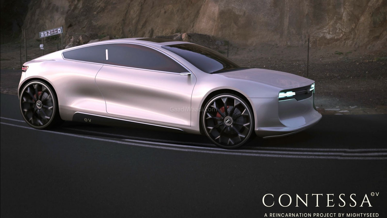 Hindustan Motors' Contessa Imagined As A Two-Door EV Concept