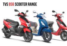 TVS BS6 Scooter Range